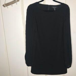 WHBM • black long sleeve tunic